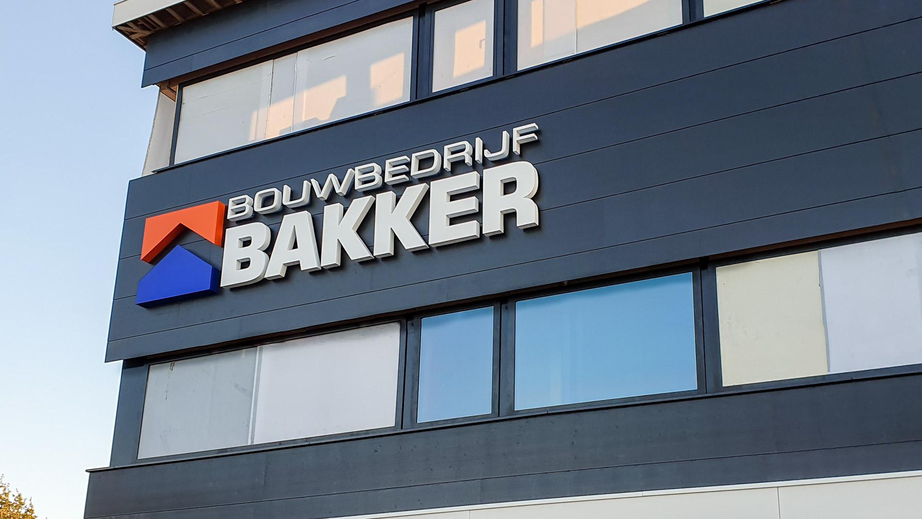 Gevelreclame Bouwbedrijf Bakker - Van de Riet Reclame